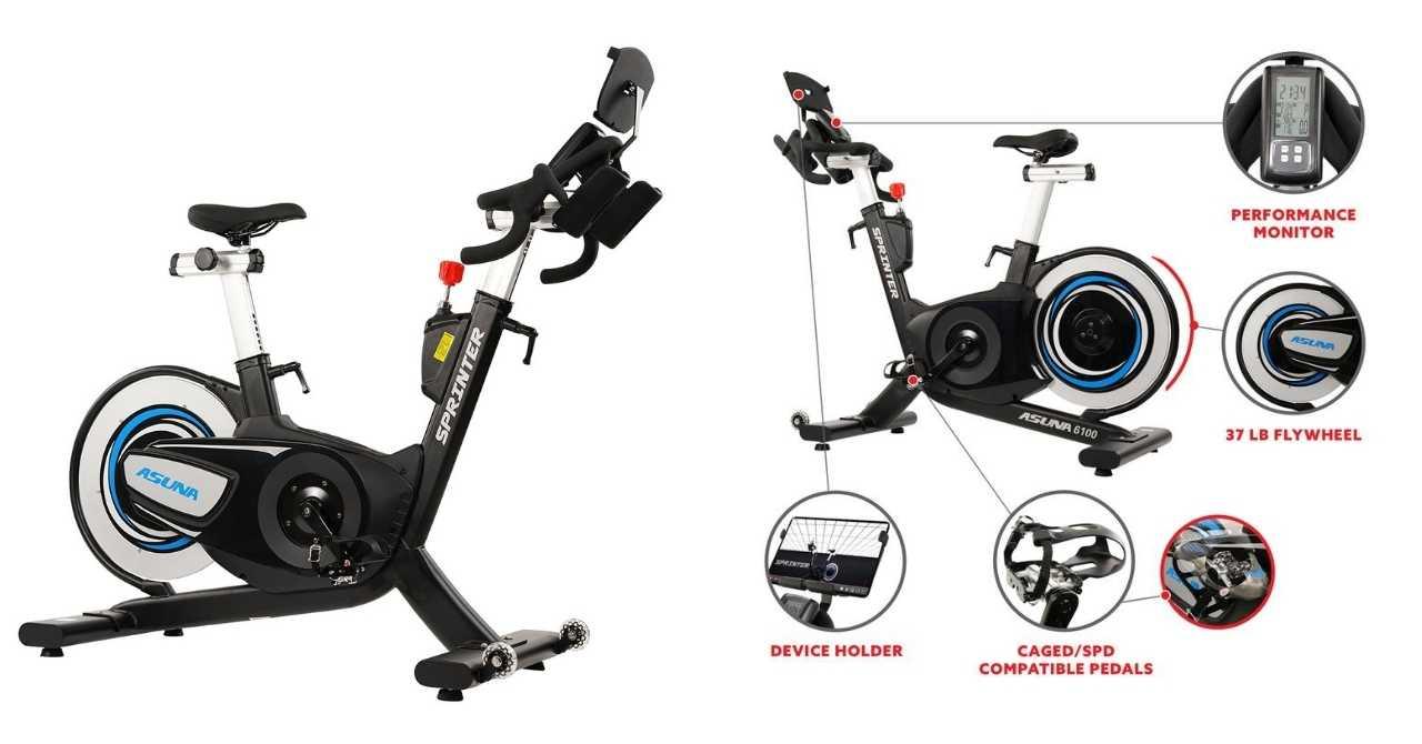 Image: Sunny Health and Fitness Asuna 6100 Sprinter spin bike